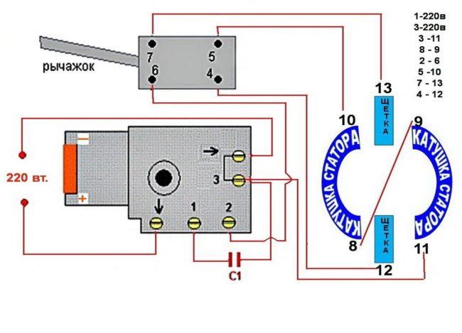 Схема подключения статора к электрической сети двигатель