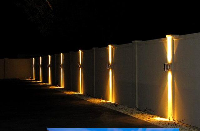 освещение забора, электричества