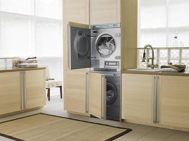 Монтаж электросушильной машинки на стиральную