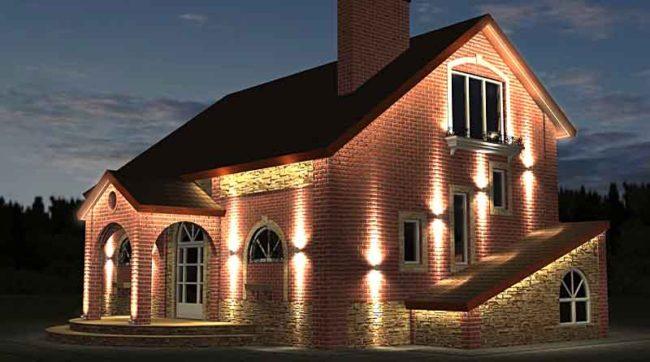 Архитектурная фасада дома