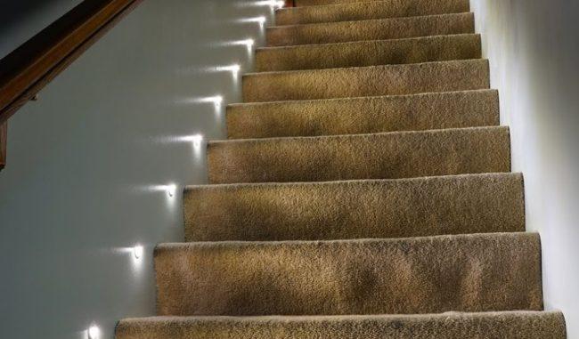 Светодиодная ступеней лестницы подсветка