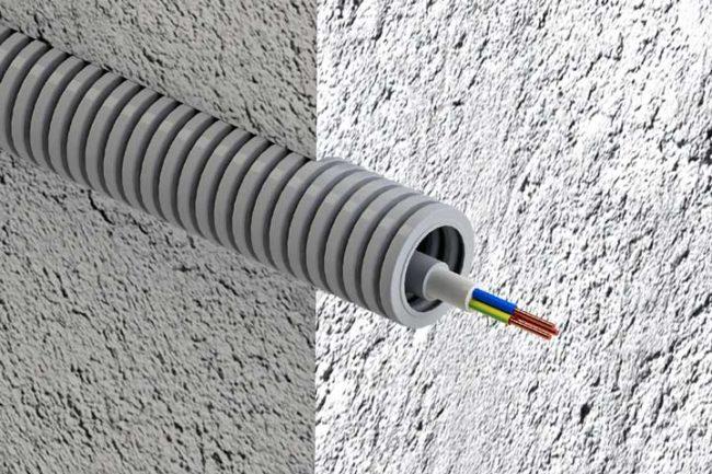 Как провести кабель через стену, маркировка