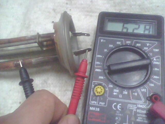 Проверка работоспособности ТЭНа нагревательного