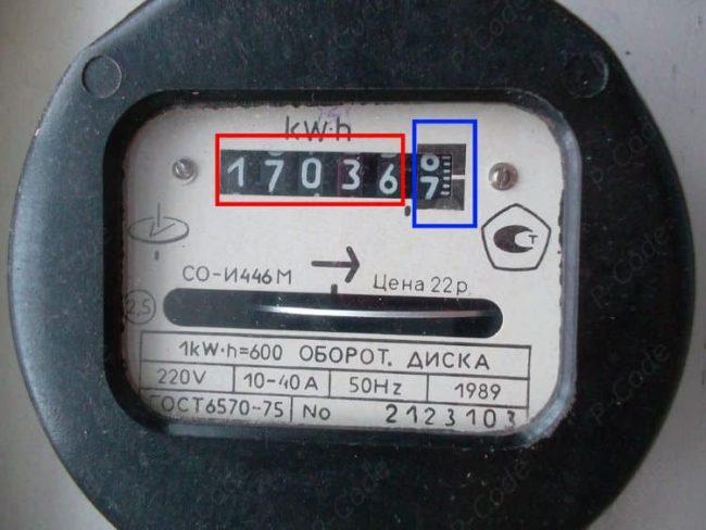 маркировка стандартного электросчётчика