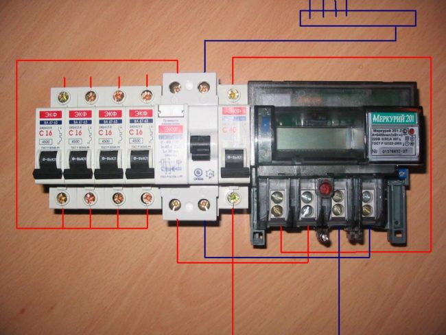 учёта расхода электричества модель Меркурий