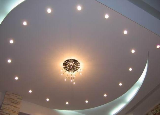 светильник установка точечных