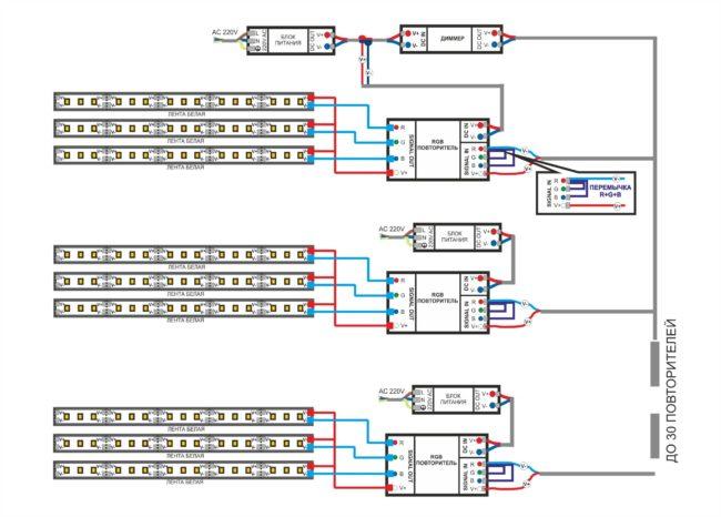 подключение светодиодной