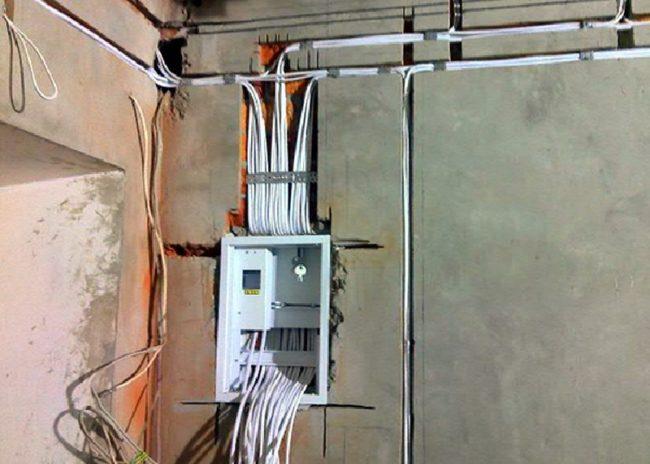 Монтаж проводки в новой квартире